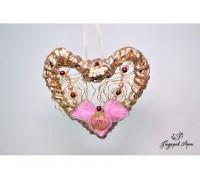 Декоративное плетеное сердце