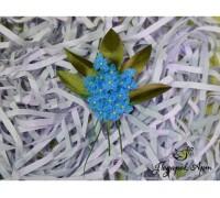 Незабудки. Цветы из ткани